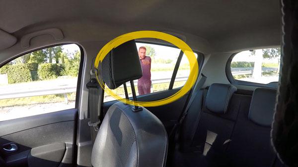 Connaitre les angles morts de la voiture