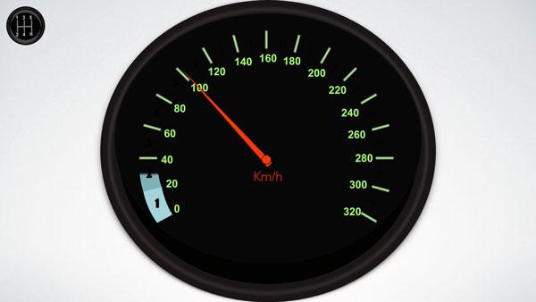 Changer de vitesse à l'aide du compteur