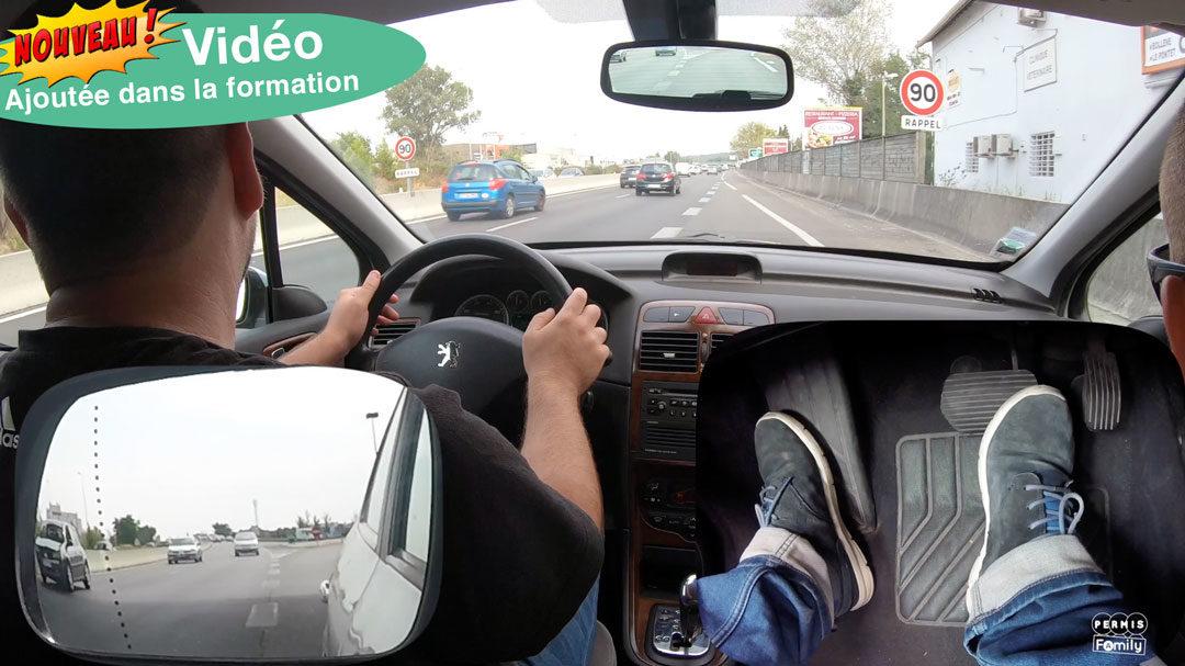 Conduite sur voie rapide en boite auto